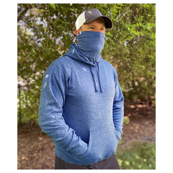 J. America Gaiter Fleece Hooded Sweatshirt