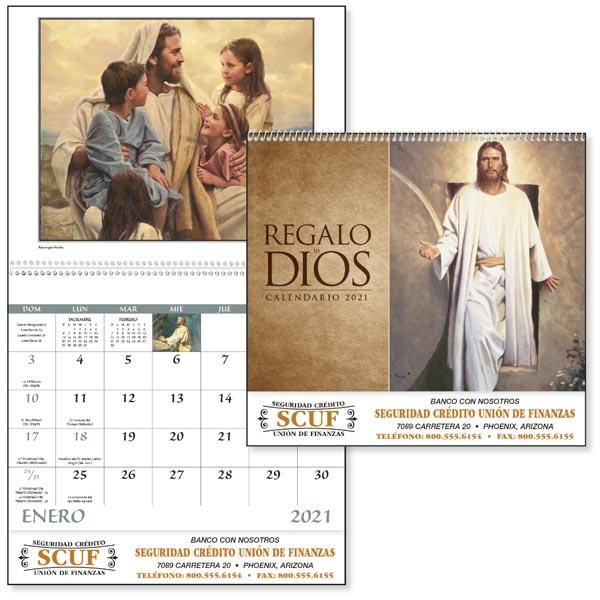 Spiral Regalo de Dios Religious 2021 Appointment Calendar