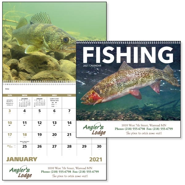 Spiral Fishing Sports/Wildlife 2022 Appointment Calendar