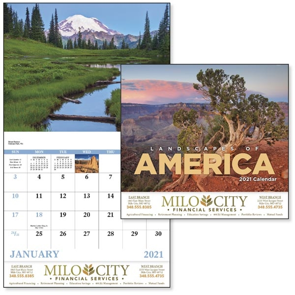 Stapled Landscapes of America Scenic Appointment Calendar