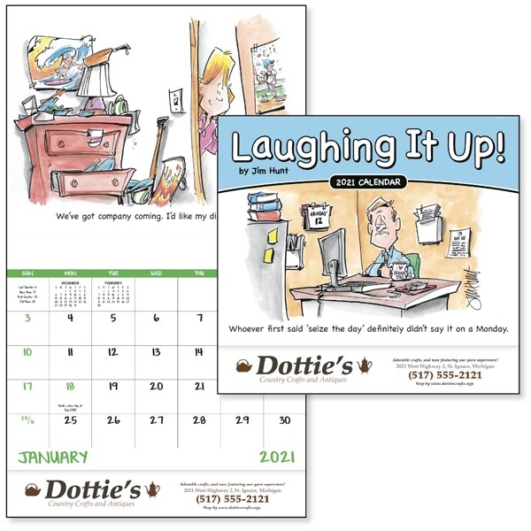 Stapled Laughing It Up! 2021 Calendar