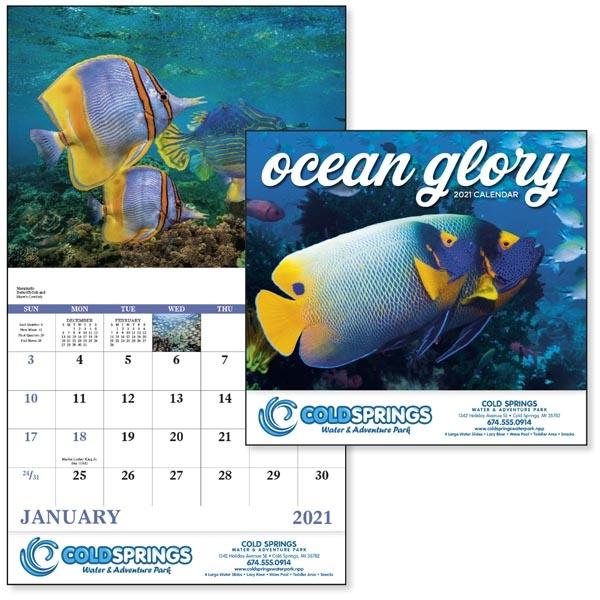 Stapled Ocean Glory Lifestyle 2021 Appointment Calendar