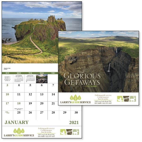 Stapled Glorious Getaways Scenic 2022 Appointment Calendar