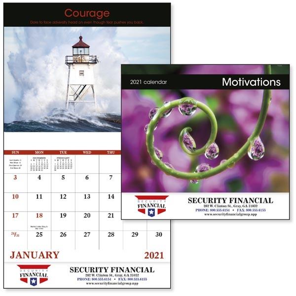 Stapled Motivations Inspirational 2022 Appointment Calendar