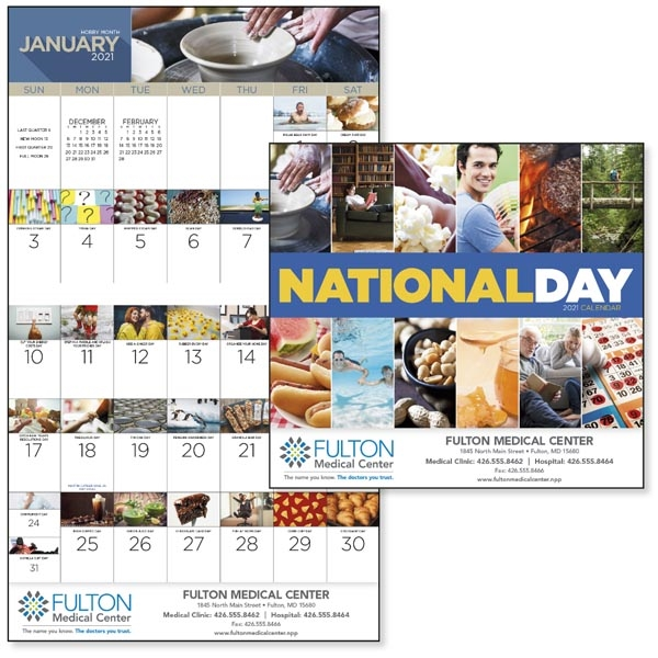 Stapled National Day 2021 Calendar