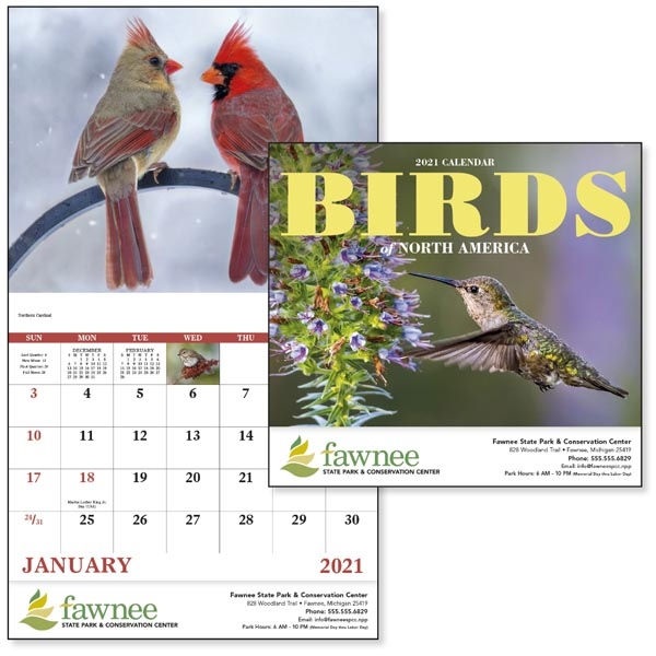 Stapled Birds of North America 2020 Appointment Calendar