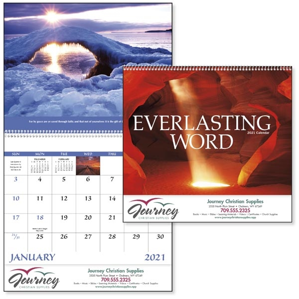 Spiral Everlasting Word Religious 2021 Appointment Calendar