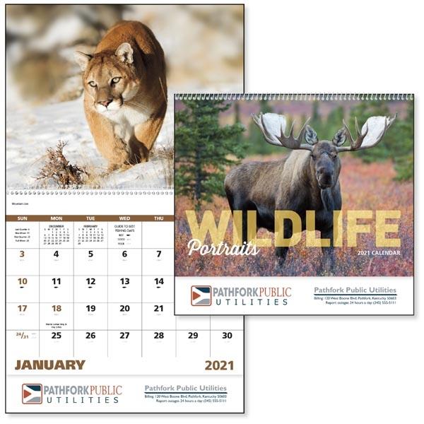 Spiral Wildlife Portraits Appointment Calendar