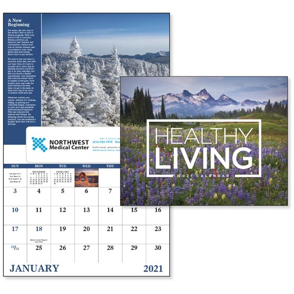 Window Healthy Living Inspirational Appointment Calendar