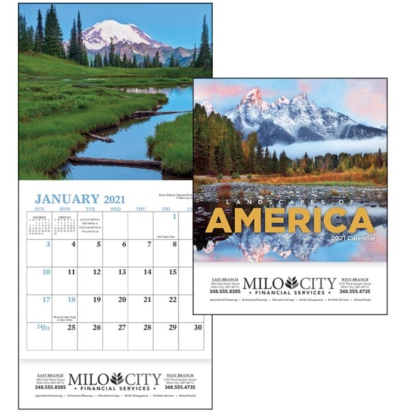 Landscapes of America Mini 2021 Appointment Calendar