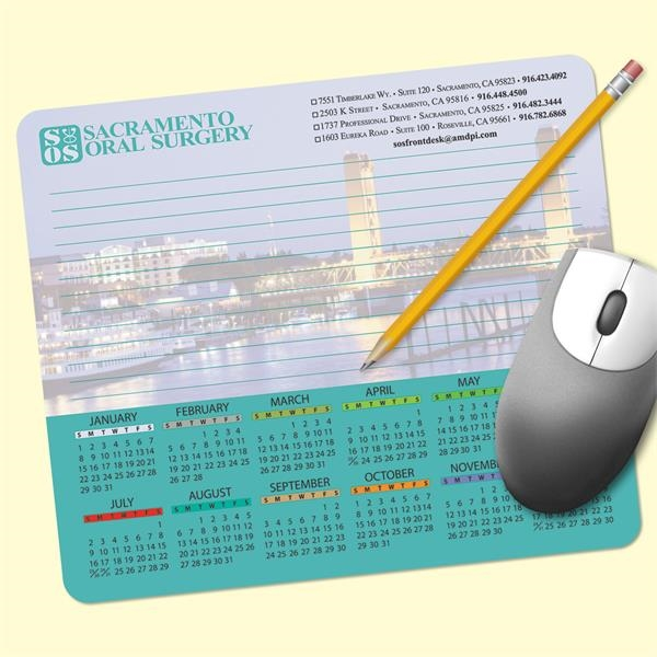 MousePaper®24 Page - Recycled Note Paper Calendar Mouse Pad