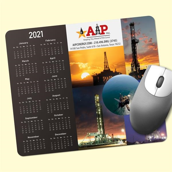 ReTreads®8x9.5x3/32 Recycled Hard Surface Calendar Mouse Pad