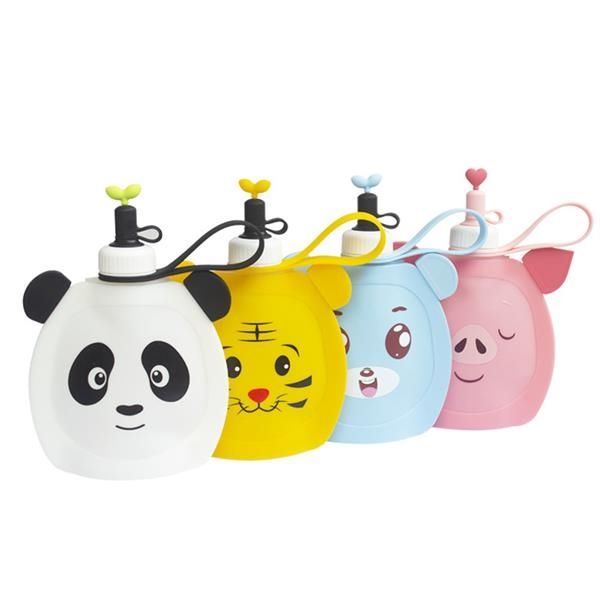 Silicone Folding Water Bottle for Kids