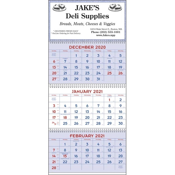 Commercial Planners 2022 Calendar - Red & Blue