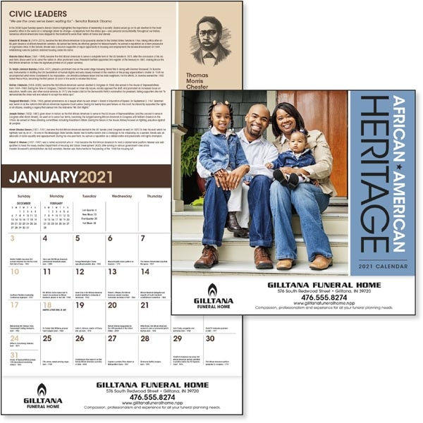 African-American Heritage - Family 2021 Calendar