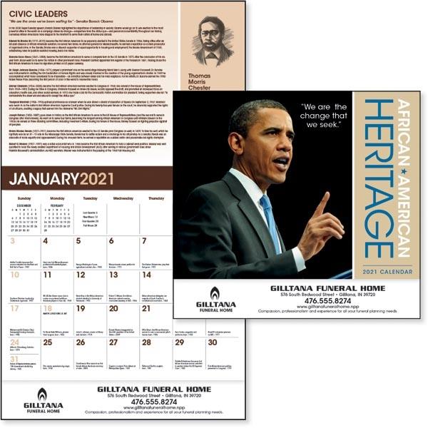 African-American Heritage Barack Obama 2022  Calendar