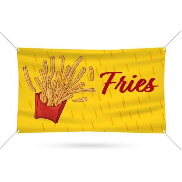 Fries Pre Printed Vinyl Banner 60