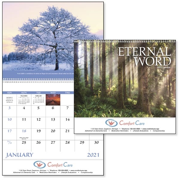 Spiral Eternal Word with Pre-Planning Form 2022 Calendar