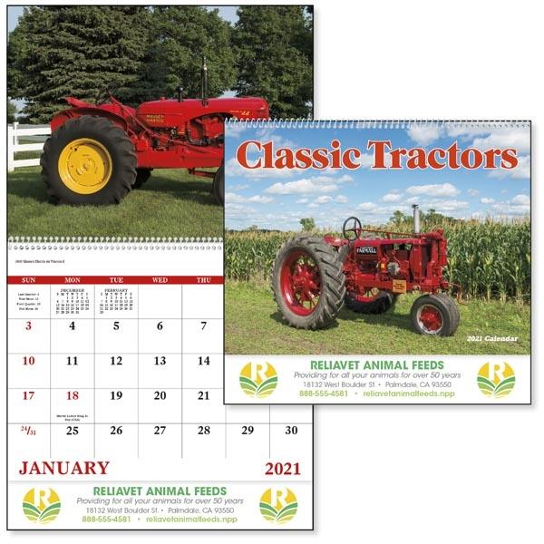Spiral Classic Tractors 2021 Calendar