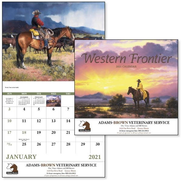 Stapled Western Frontier Americana 2022 Appointment Calendar