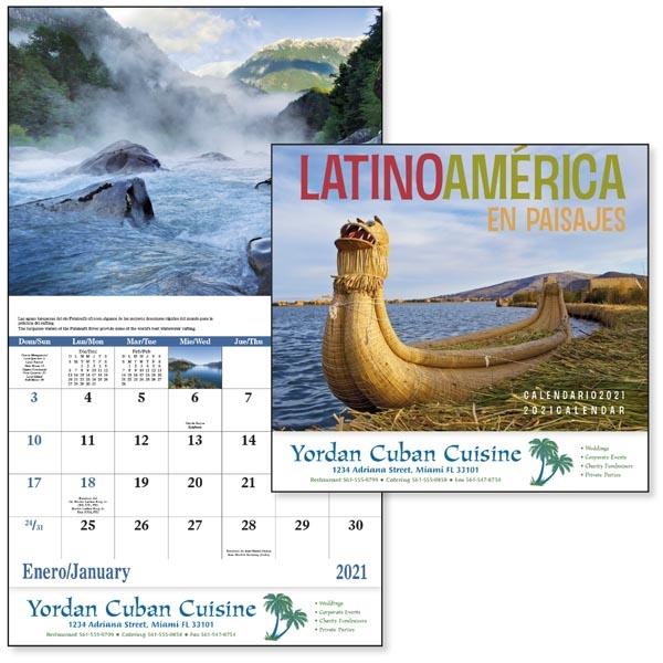 Stapled Latin America Scenic 2021 Appointment Calendar