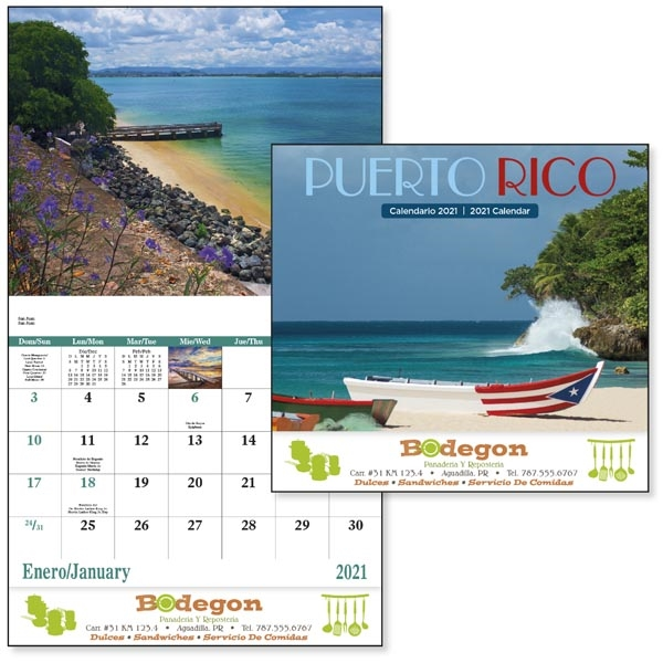 Stapled Puerto Rico Scenic 2022 Appointment Calendar