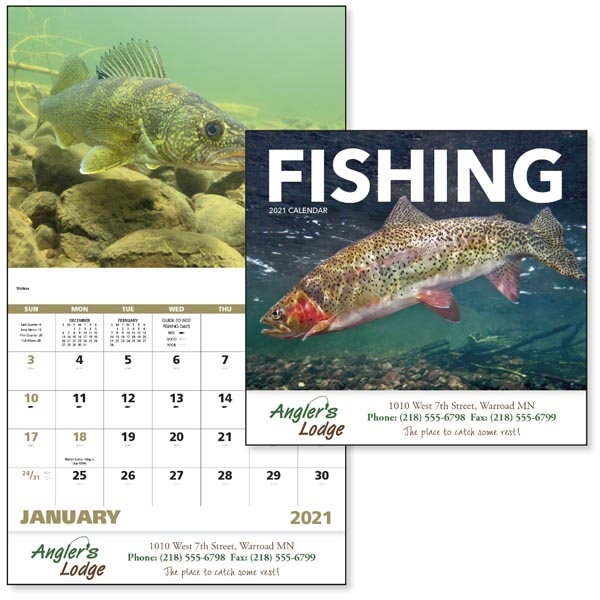 Stapled Fishing Sports/Wildlife 2021 Appointment Calendar
