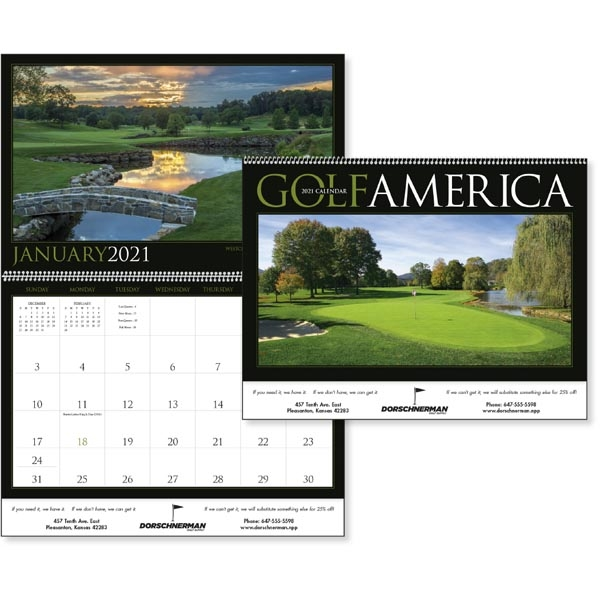 Golf America 2021 Calendar