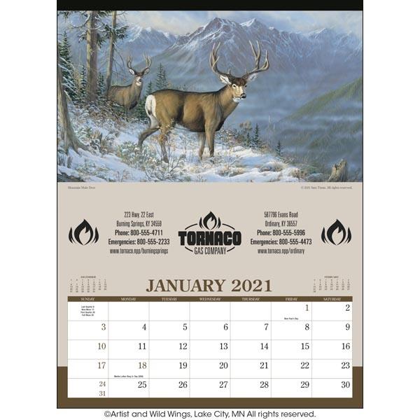 Wildlife Art 2021 Calendar