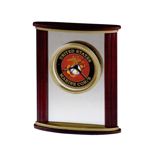 Victor - Wood And Glass Alarm Clock With Satin Rosewood Finished Sides And Custom Dial Photo