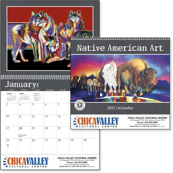 Native American Art 2022 Calendar