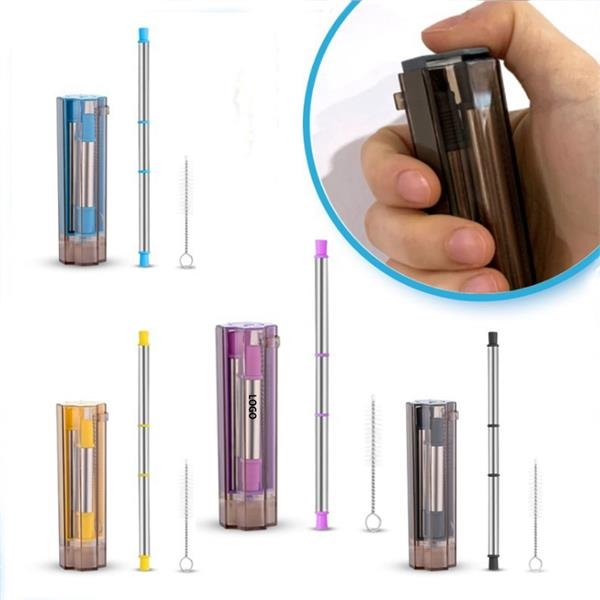 Portable Reusable Stainless Steel Drinking Straw