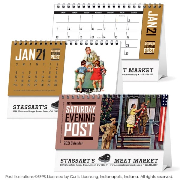 The Saturday Evening Post 2021 Desk Calendar