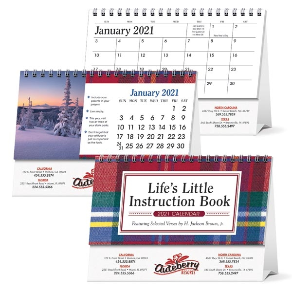 Life's Little Instruction Book Desk 2021 Calendar