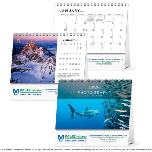 National Geographic Photography Large Desk 2021 Calendar