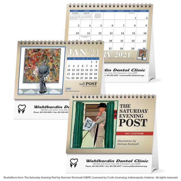The Saturday Evening Post Large Desk 2021 Calendar