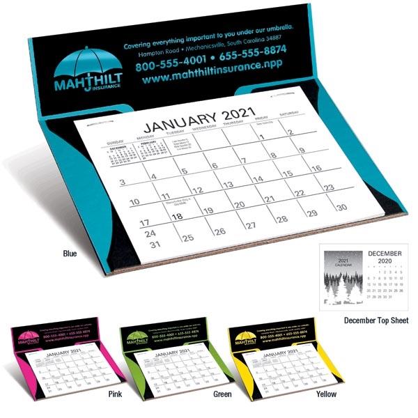 Curved Memo Desk 2022 Calendar