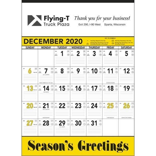 Yellow & Black Contractor's Memo 2022 Calendar