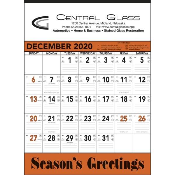 Orange & Black Contractor Memo 2022 Calendar