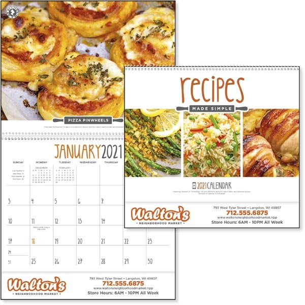 Recipes Made Simple 2021 Calendar