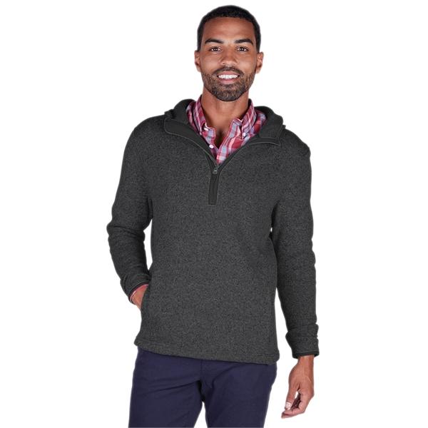 Men's Heathered Fleece Quarter Zip Hoodie