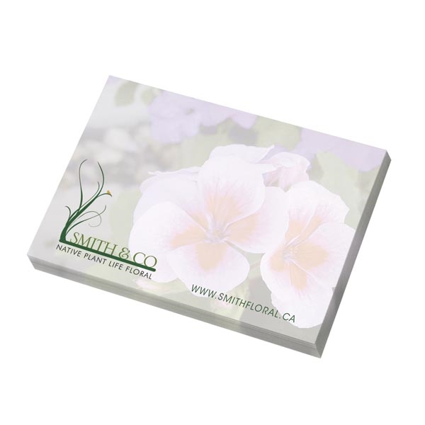 "Ecolutions® 4"" x 3"" Adhesive Notepad"