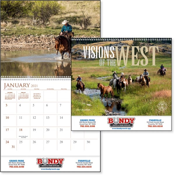 Visions of the West 2022 Calendar