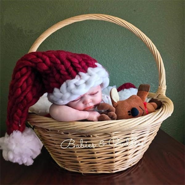 Hand-Knitted Children's Christmas Hat