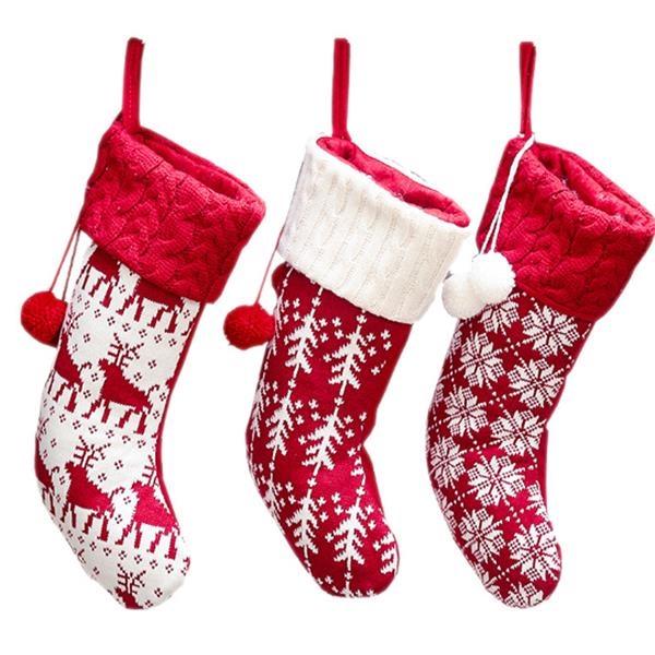 Elk Gift Bag Christmas Socks