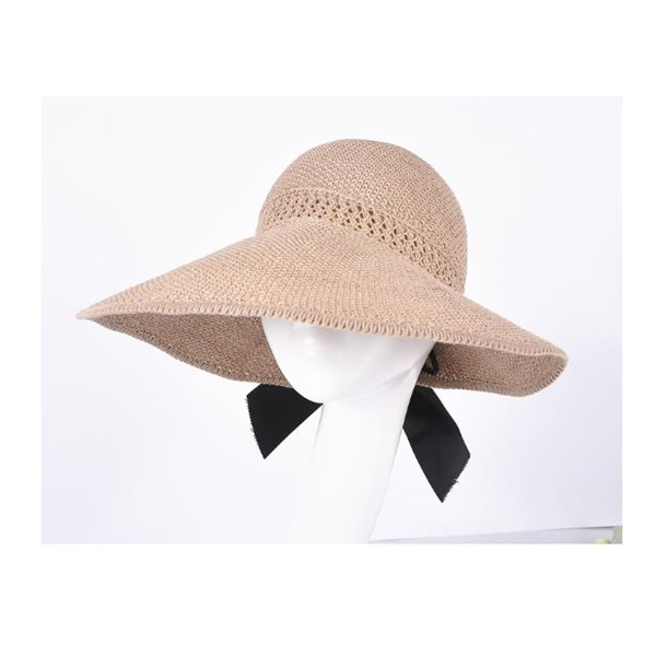 Summer linen empty top sunscreen straw hat knitted female