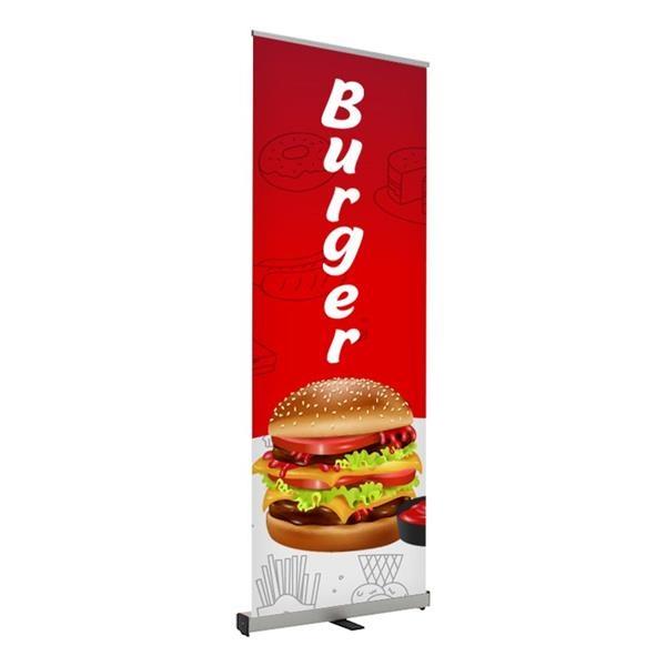 Burger Pre Printed Roll Fx Banner 24