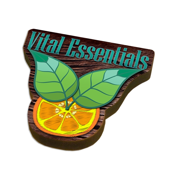 Ultra Vivid Eco Wood Magnet (3 Square Inches)