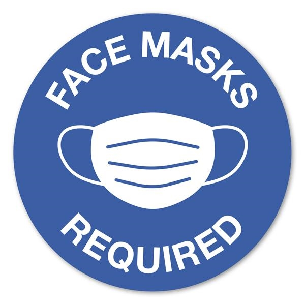12 Circle Stock Masks Required Wall Decal