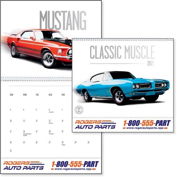Classic Muscle Cars 2021 Calendar